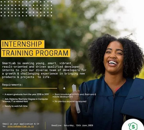 Training Program Opportunities for FRESH GRADUATE at Smart Lab Tanzania