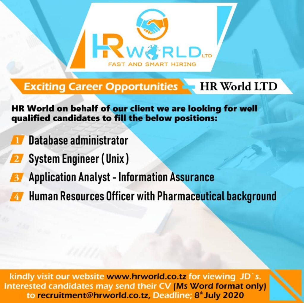 Job Opportunities at HR World