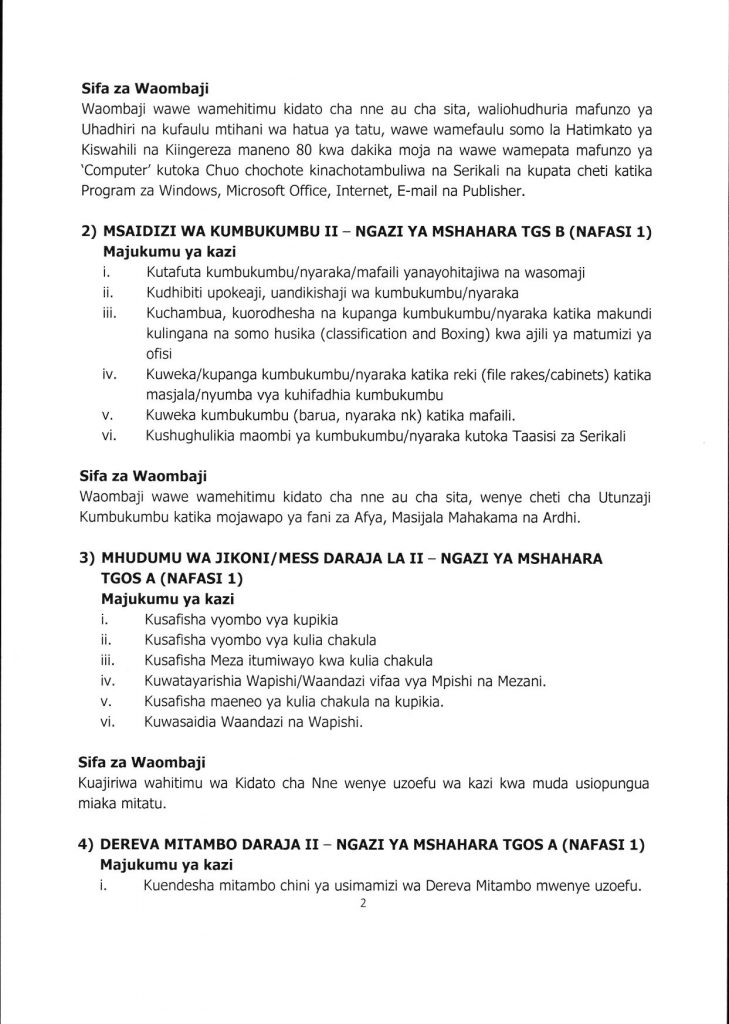 Job Opportunities at Iringa Municipal Council