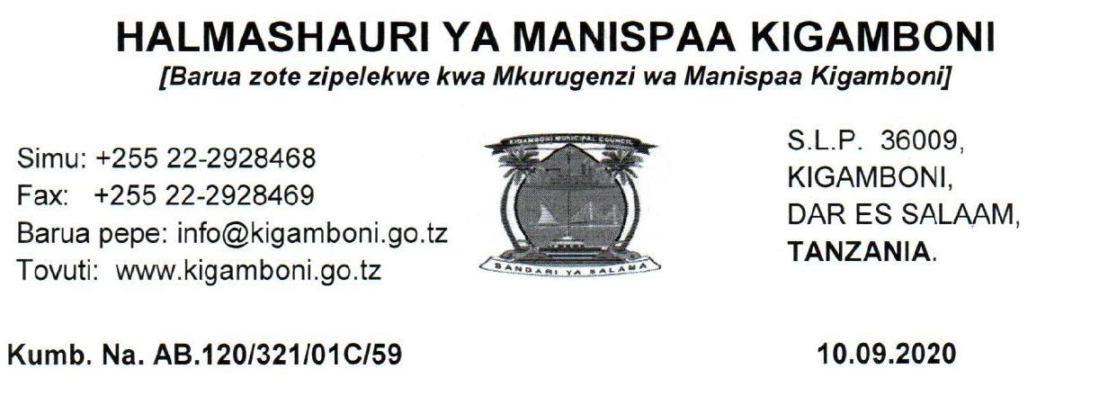 Names Call for Interview at KIGAMBONI Municipal MAJINA YA WALIOITWA KWENYE USAILI HALMASHAURI YA MANISPAA KIGAMBONI
