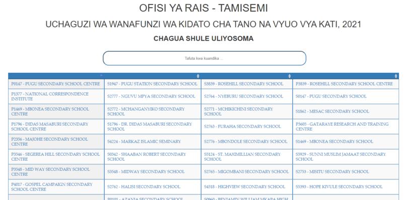 Form FIVE Selection 2021 pdf Waliochaguliwa Kidato cha Tano 2021