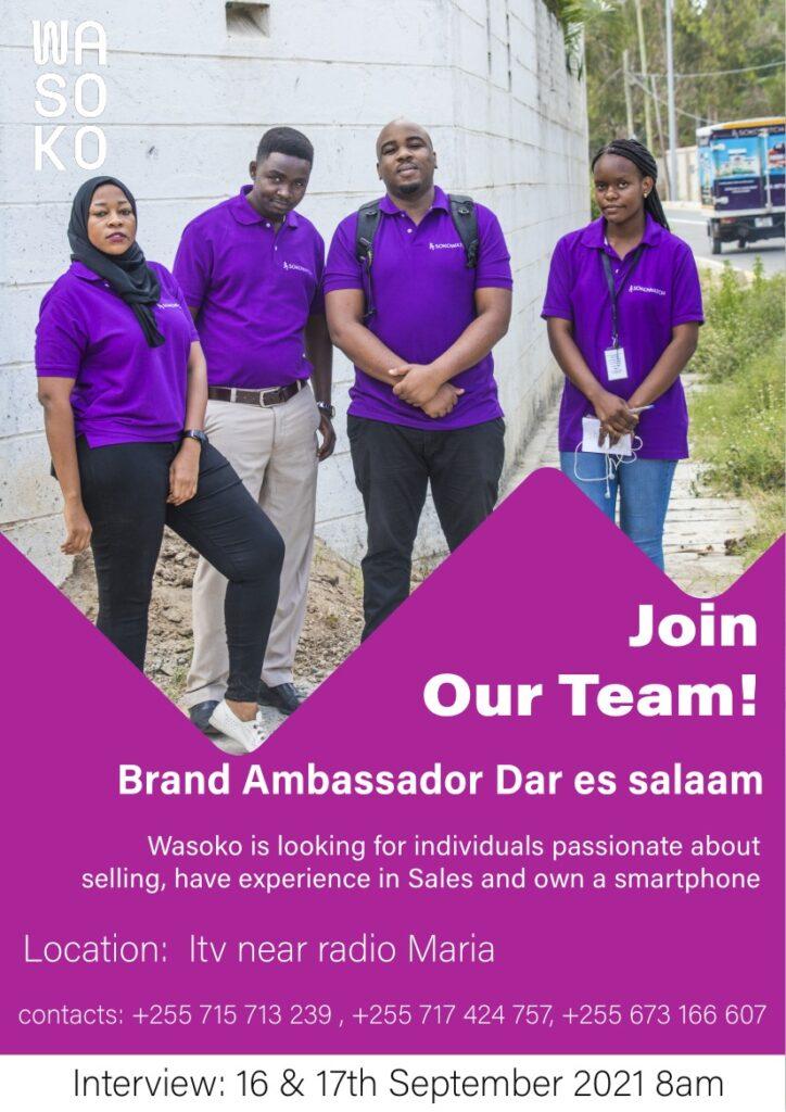 Brand Ambassador New Job Opportunity at Sokowatch 2021